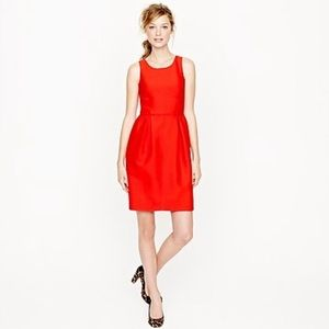 J Crew Red Allie Wool Dress With Pockets